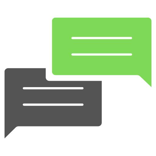 Logo Netzwerk Dialog und Demokratie Sprechblasen Quadrat